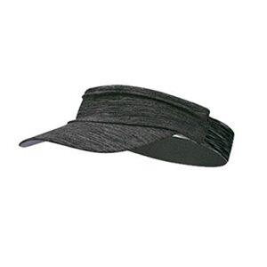 iSunday Chapeau pare-soleil unisexe absorbant la transpiration bandeau élastique avec bord protection UV UPF 50 + pliable sport tendance séchage rapide 50 – 56 cm, gris foncé, M/L