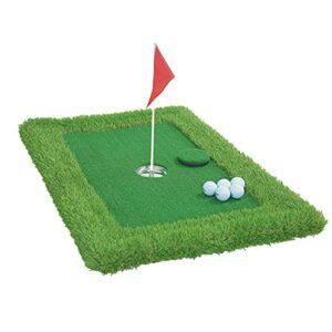 JHYQ Floating Golf Putting Green, Golf Putting Mats, Floating Chipping Mat, Floating Golf Green for Pool, Mini Water Golf Putting Practice Set (57 * 90cm)