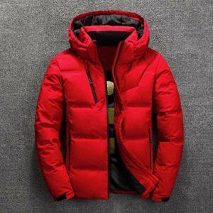 JJZXD Doudoune homme hiver mode homme all-match épais manteau en duvet chaud chapeau décontracté doudoune hommes (Color : D, Size : Medium)