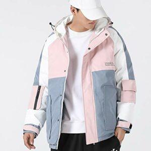 JJZXD Doudounes et manteaux Manteaux d'hiver pour hommes Manteaux chauds décontractés à capuche de haute qualité, vestes en duvet à la mode pour hommes (Color : B, Size : Medium)