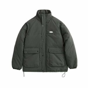 JJZXD Hommes Chaud Parka Outwear Hiver Épais Coton Veste Hommes Réfléchissant Lettre Surdimensionné Coton Manteau Hommes Streetwear (Color : Dark gray, Size : Large)