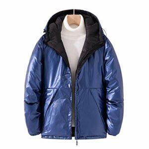 JJZXD Parkas Hommes Hiver Hommes Manteaux Chaud Épais Hommes Vestes Rembourré Décontracté À Capuche Parkas Homme Pardessus Vêtements (Color : Blue, Size : XX-Large)
