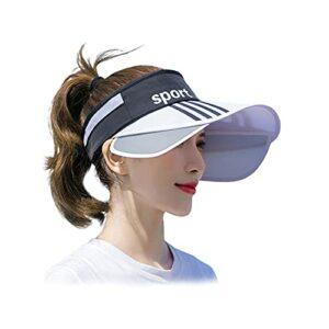 JWBOSS Chapeau pare-soleil pliable pour femme – Protection UV réglable – Pour golf, cyclisme, pêche, tennis, course à pied, jogging et autres sports