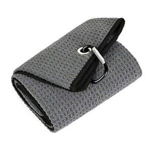 Kongqiabona-UK Microfibre pliée de Serviette de Golf d'utilisation Confortable 40x50CM avec Le Clip de Mousqueton pour Le Yoga de Sports de Golf