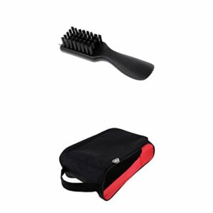 lahomia Golf Shoes Cleaner Brush with Dirt Mud Remover Shoes Carry Bag Case