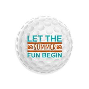 Let The Summer Fun Begin Balles de golf au design unique et décontracté Cadeau pour papa, maman, grands-parents Joli cadeau pour l'entraînement au golfeur