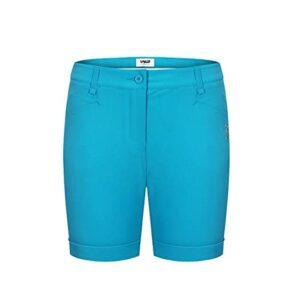 LGQ Short de Golf à séchage Rapide pour Femmes Short de Sport à séchage Rapide Short Cargo de Golf à séchage Rapide avec Poches,Lake Blue,M