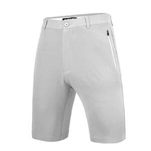 LGQ Short de Golf Extensible pour Homme Short de Golf Cargo à séchage Rapide, résistant à l'eau, léger, décontracté,Gris,L