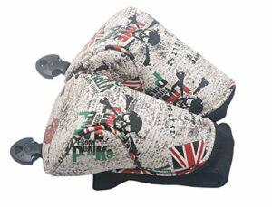 MamimamiH Golf Gris Tête de Mort Bois de Parcours Couvre-Fer couvertures de tête pour Titleist Taylormade Callaway Mizuno Cobra Ping Adams Nike