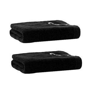 MOPOIN Lot de 2 serviettes de golf en microfibre avec clip pour golf, yoga, camping, gym