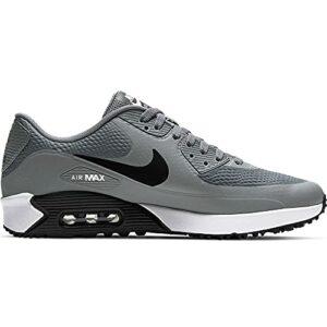 Nike Air Max 90 G Chaussures de golf pour homme, Gris, noir, blanc (Smoke Grey Black White), 45.5 EU
