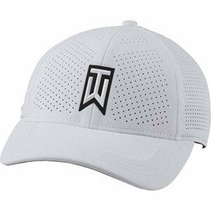 Nike TW U CW6792 Nk Arobill H86 Casquette de golf perforée unisexe – Blanc – M/L
