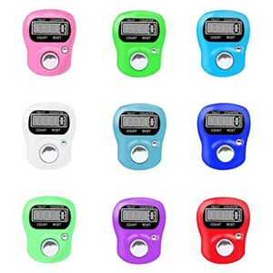 otutun Lot de 10 Compteur de Doigts, Compteur Manuel, LED Numérique avec Compteur de Doigts électronique Numérique Compteur De Traqueurs Plastique
