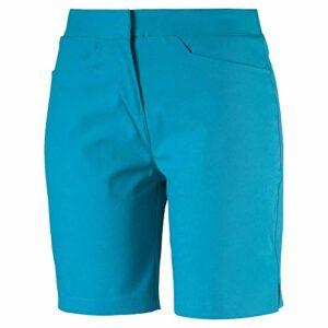 Puma – Bermuda de golf Pounce 2019 – Pour femme, Femme, Short, 2019 Pounce Bermuda Short, Bleu Caraïbe, Double x Small