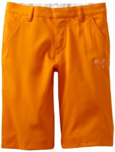 PUMA Golf Junior Tech Short pour Femme Large Orange Vif