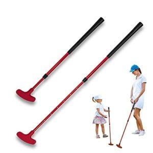 Putters de golf pour hommes et enfants, putter de golf portable avec échelle, putter bidirectionnel pour droitier et gaucher, exercice de club de golf rétractable