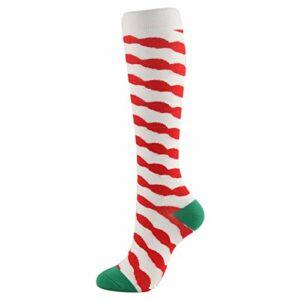 Qlans Chaussettes de Compression Hautes de Noël pour Hommes et Femmes, adaptées à la Course, aux infirmières, aux attelles de Tibia, au vol, aux Voyages
