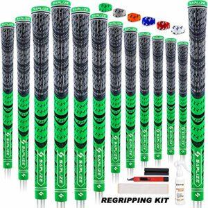 SAPLIZE 13 Grips de Golf avec kit de regrippage Complet, Standard/Midsize, Grips de Club de Golf Hybrides en Caoutchouc