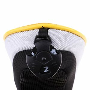 Sharplace 2xGolf Hybrid UT Club Head Cover Headcover with Number Tag Jaune