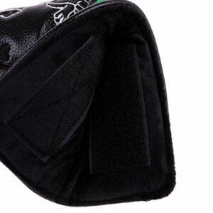 Sharplace 2xWaterproof PU Cuir de Golf Putter Head Cover Protecteur Chien Noir