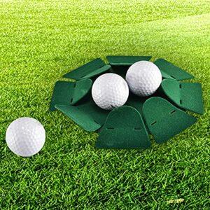 shifengzhou 1PCS All-Direction Putter Cup Golf Practice Hole Formation Aides Outil Intérieur Extérieur (Vert)