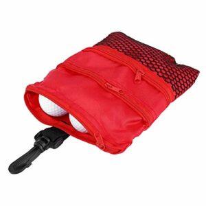 Shipenophy Mini Sac de Golf extérieur Multi-Poches léger pour entraînement de Golf pour Accessoire de Golf Cadeau(Red)