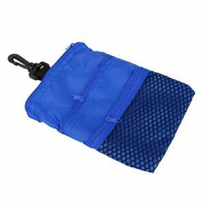 Shipenophy Mini Sac Multi-Poches de Golf extérieur Durable pour Les Joueurs de Golf(Blue)