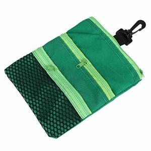 Shipenophy Sac de Golf Multi-Poches Mini léger pour entraînement de Golf Accessoire de Golf pour Cadeau(Green)