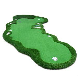 SHRHZJ Tapis Golf, Tapis De Putting De Golf,Tapis de Golf Portable pour l?Entraînement,Golf Tapis d'entrainement Putting Trainer,Comes with 1 Putter and 5 Flags (1.5 * 3.5m/4.92 * 11.48ft)