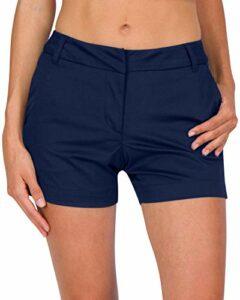 Three Sixty Six Short de golf pour femme à séchage rapide avec poches, athlétique et respirant – Entrejambe de 42,5 cm – Bleu – 38