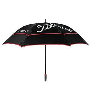 Titleist Tour Parapluie de golf double auvent Noir/noir/rouge