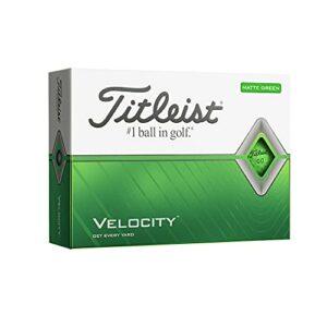 Titleist Velocity Balles de golf, mixte adulte, Titleist Velocity Matte Green, Vert