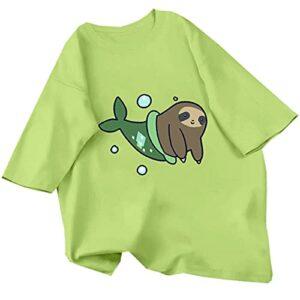 T-Shirt Imprimé Dames DéContracté Mignon Harajuku Animal T-Shirt Haut à Manches Courtes Streetwear éTé Surdimensionné Surdimensionné T-Shirt