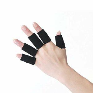Tuzi Qiuge 5 en 1 Mouvement Nylon Protector Finger Manches (Noir) QiuGe (Color : Black)