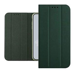 TYWZ Trifold Portefeuille Coque pour Xiaomi Redmi 9,Housse Etui en PU Cuir Flip Case avec Caché Magnétique Stand Fonction Protection Antichoc Cover-Vert