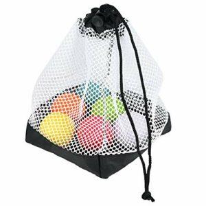 Ueohitsct Pochette en maille nylon avec cordon de serrage pour 36 balles de golf