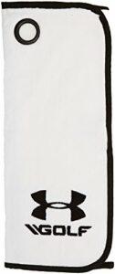 Under Armour Golf Serviette de Golf Mixte Blanc/Noir/Noir (100), Taille Unique