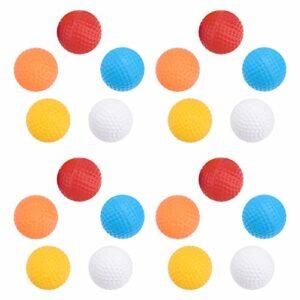 VOSAREA Lot de 20 balles d'entraînement en plastique – Jouet amusant pour enfant pour l'intérieur et l'extérieur – Pour la maison, le jardin, la cour, la course à bascule