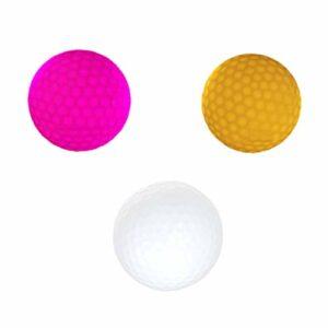 VOSAREA Lot de 3 balles lumineuses à LED pour entraînement dans le noir – Jouet amusant pour enfants pour l'intérieur et l'extérieur – Pour le sport dans la cour, le sport