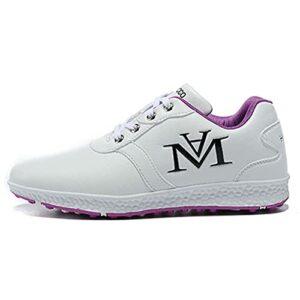 WUDAXIAN Chaussures de Golf Chaussures de Sport de Loisirs pour Femmes, Chaussures de Golf pour Femmes imperméables et Respirantes, Chaussures de Balle Souples Confortables