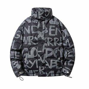 XYZMDJ Veste d'hiver Hommes Nouveau Mode Streetwear Casual Parka Casual Hommes Chaud Élément épais coupe-vent coupe-vent homme (Color : Black, Size : XX-Large)