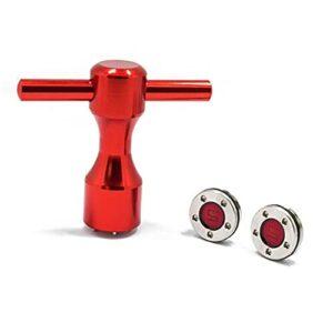 Zhou-YuXiang Accessoires de Golf Chaud Portables de Mode Professionnelle Nouvelle clé à vis Putter Ensemble clé Rouge Putter de Golf