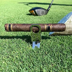 ZSXS Support à cigares – Pour golf – Outil de divot de golf – Support à cigares en métal – Cadre de chariot de golf (1 pièce)